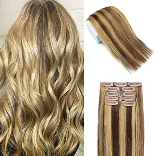 Best clip in human hair extensions for sale Reviews