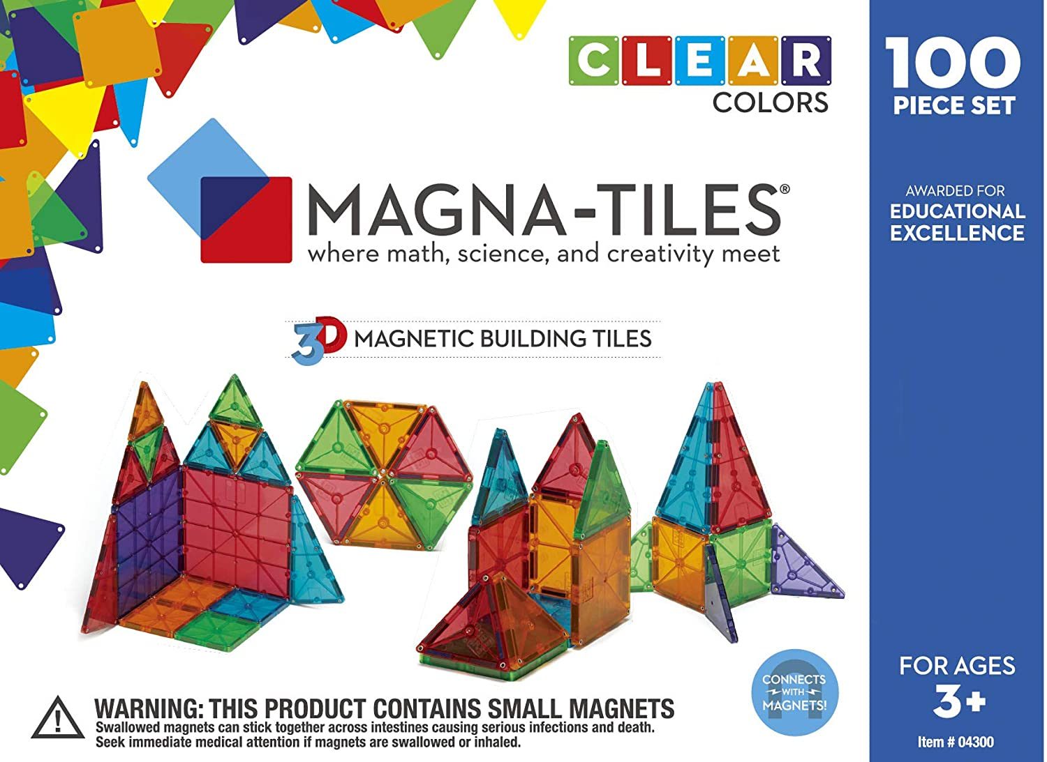 Magna tile Magna-Tiles CLEAR 100ps   04300 by people