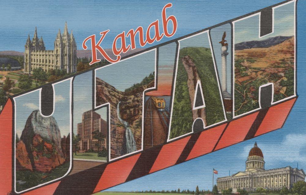 Kanab Utah Ranking TOP2 Large Letter Fashion Scenes Gallery 24x36 Wa Giclee Print