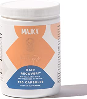 Hair Recovery and Wellness Formula for Mom by Majka - Hair Regrowth and Hair Loss Dietary Supplement - No GMO, Non Dairy, ...