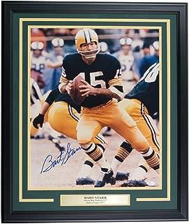 Bart Starr Signed Framed Green Bay Packers 16x20 Scramble Photo JSA