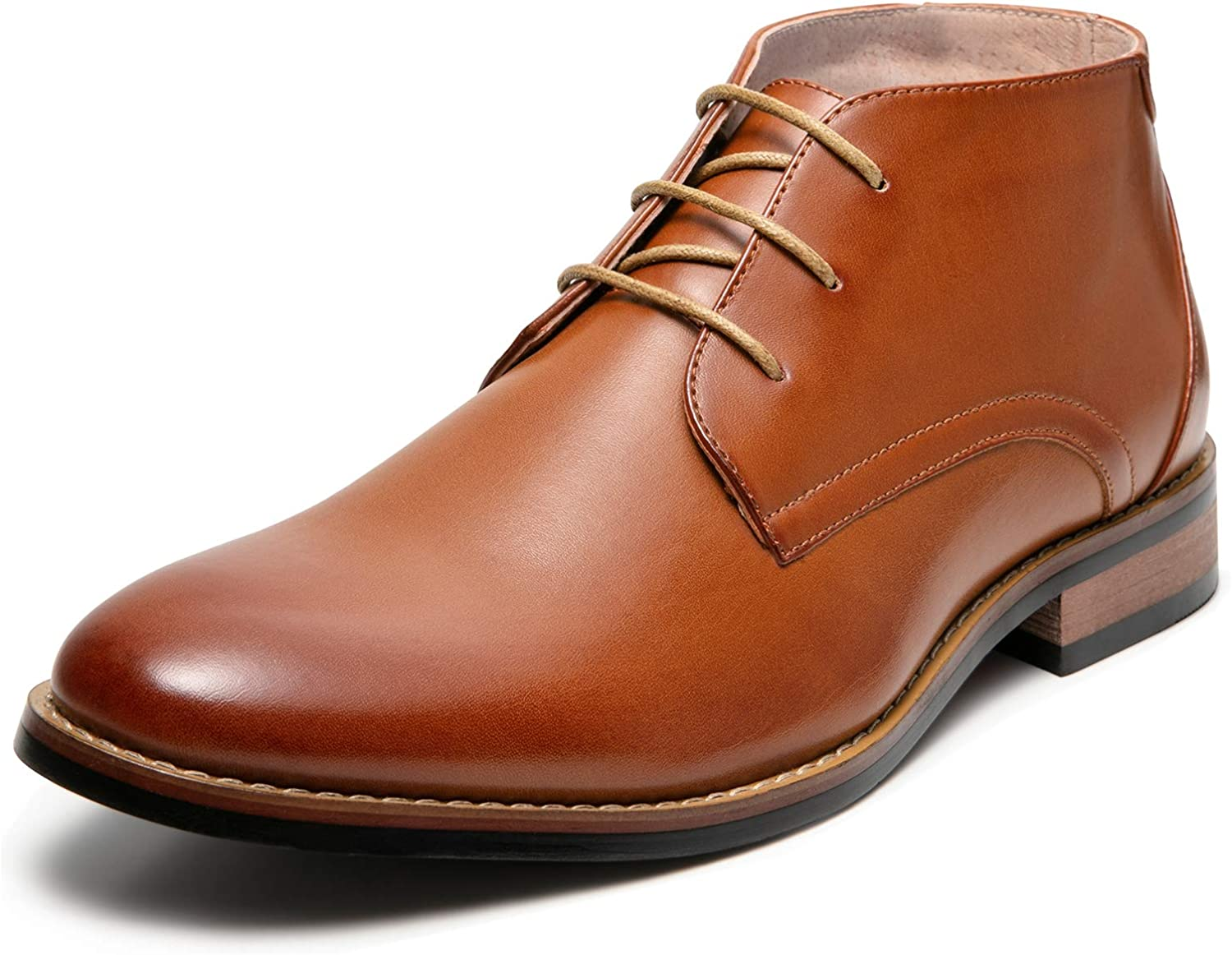 ZRIANG Men's Oxford Dress Leather Boots Lined Toe Special sale item Round Angle Sale SALE% OFF