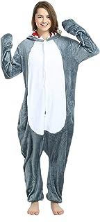 Baratos Pijamas Mujer y Hombre Invierno,para Navideños Familiares Parejas,Pijamas Entero Tallas Grandes Manga Larga,Cómodo Suave,Disfraces Carnaval Halloween Cosplay