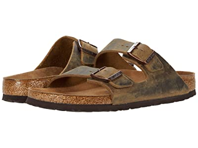 Birkenstock Arizona Soft Footbed (Mud Green Oiled Leather) Men