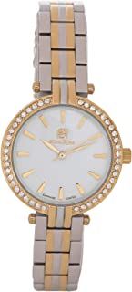 Nina Rose Luxurious and Distinctive Casual Analogue Watch for Women, Silver/Gold-White Dial