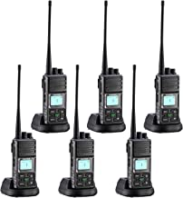 Two Way Radios, Sanzuco 2 Way Radios Long Range 20 Channel Hands Free UHF 5 Miles Rechargable Walkie Talkie Two-Way Radio Interphone for Outdoor Camping Hiking (Black,Pack of 6)