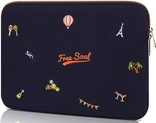 IVORY パソコン ケース 15.4 15.6インチインチ MacBook Pro Air 15 ノートパソコン タブレット pcケース 衝撃吸収 スリム 軽量 PCインナーバッグ (15.6インチ, c)
