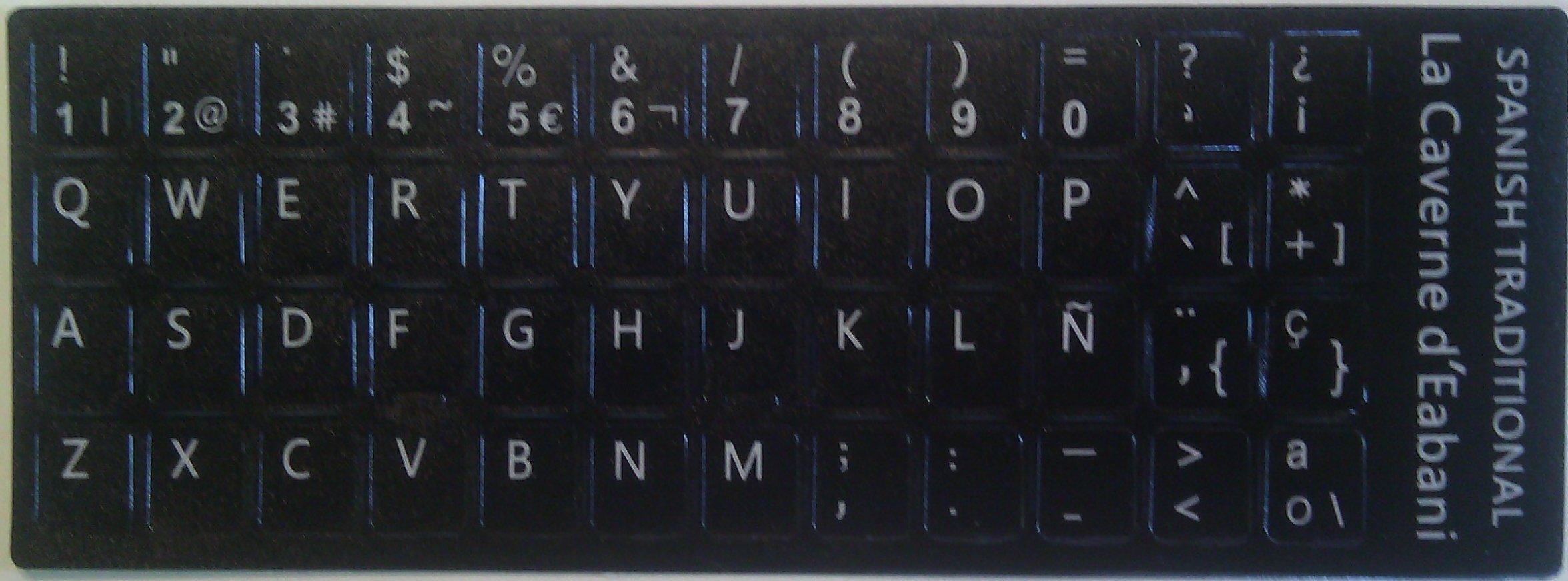 La Cabaña dEabani - Kit de 48 teclas adhesivas para teclado España: Amazon.es: Informática