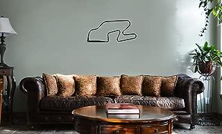 DECAL SERPENT Watkins Glen International New York Race Track Map F1 Vinyl Wall Mural Decal Home Decor Sticker (BLACK)