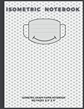 "Isometric Notebook: Isometric Graph Paper Notebook 180 pages 8.5"" X 11"" with a smiley mask on the cover"