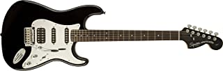 Squier by Fender エレキギター Black and Chrome Standard Stratocaster® HSS, Laurel Fingerboard, Black