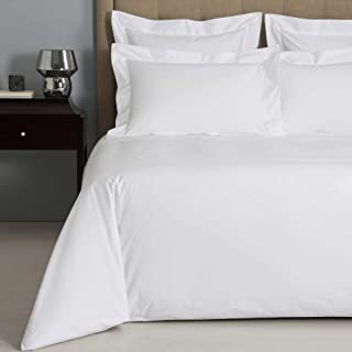 Precious Star Linen Hotel Quality 800 Thread Count Egyptian Cotton 1-Piece Duvet Cover, Hypoallergenic, Zipper Closer with Corner Ties (King/Cal-King (94