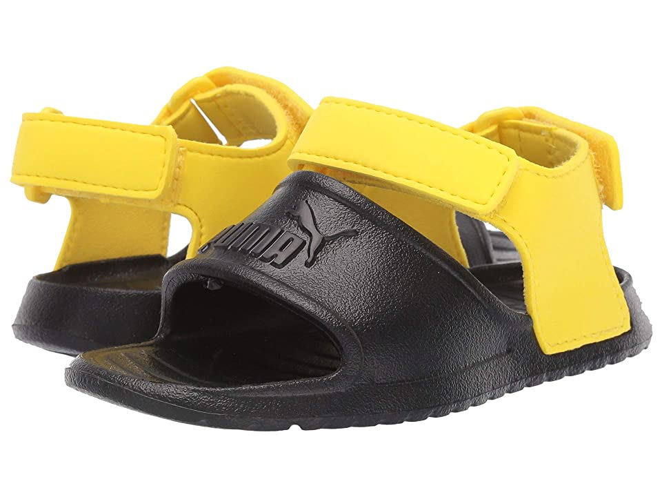 Puma Kids Divecat Injex (Toddler) (Puma Black/Blazing Yellow) Kid