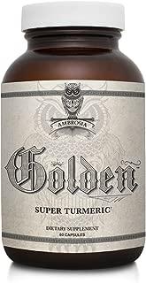 Ambrosia Golden Super Turmeric | Bioavailable Curcumin | Decrease Inflammation for Gut & Brain Health | Reduce Joint Discomfort | 765mg of Active Curcuminoids | 60 Veggie Capsules (30 Day Supply)