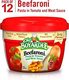 Chef Boyardee Beefaroni, 7.5-Ounce Microwavable Bowls (Pack of 12)