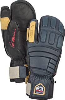 Waterproof Ski Gloves: Mens and Womens Pro Model Leather Winter 3-Finger Mitten