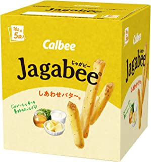 カルビー Jagabee しあわせバタ~ 80g(16g×5袋)×12個