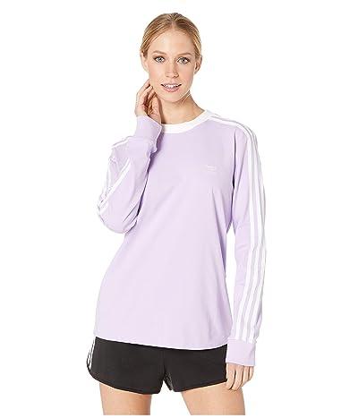 adidas Originals 3-Stripes Long Sleeve Tee (Purple Glow) Women