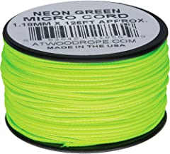 product image for Atwood Rope MFG Micro Cord 125ft Neon Green