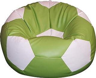 pouf 100CM chaise coussin FAUX CUIR foot enfant ballon de football,