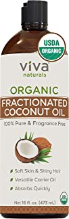 Viva Naturals Organic Fractionated Coconut Oil - Amazing Massage Oil & Carrier Oil for Essential Oils - Face Moisturizer &...