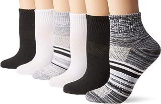 Hanes Women's 6-Pack Lightweight Breathable Ventilation Ankle Socks
