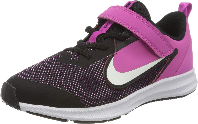 Nike Unisex-Child Kids Downshifter 9 Pre School Velcro Running Shoe