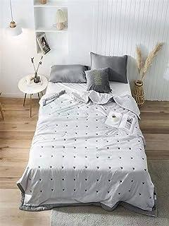 Zasinege Love Broderie Silk Tissu Été Cool Couette Couette Cuisine Soft Office Soft Office Sofa Couverture Mince Couette C...