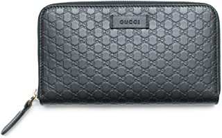 f7242bc95d631e Gucci Wallet Microguccissima Leather Continental Zip Around Wallet Black  Italy New