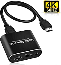avedio links 4K HDMI Audio Extractor, HDMI to HDMI + Optical Toslink SPDIF + 3.5mm AUX Stereo Audio Out, HDMI Audio Converter Adapter Splitter Support 4K@60Hz Full HD 1080P 3D