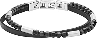 Fossil Men's Black Bracelet, JF03434040