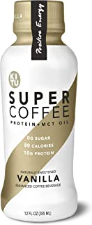 Kitu by Sunniva Super Coffee Vanilla Sugar-Free Formula,10g Protein, Keto Approved, Lactose Free, Soy Free, Gluten Free, Pack of 12