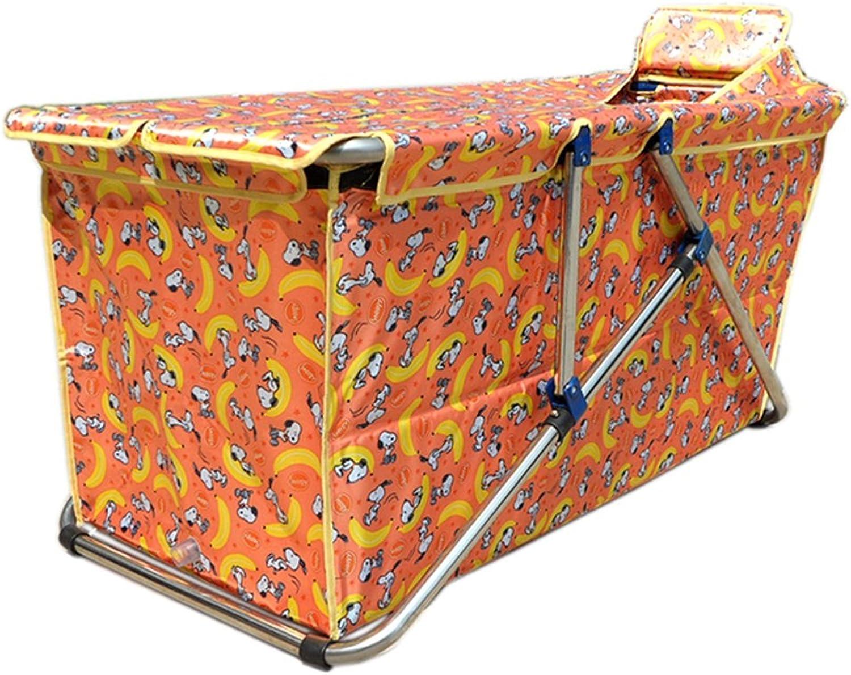 Badewanne Falten Badewanne Frei Aufblasbare Dicke Isolierung Warm Erwachsene Badewanne Kinder Bad Aufblasbare Badewanne ( Farbe   Orange )