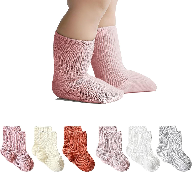 Fatu Fashion Baby Cotton Crew Socks Non Slip Socks Toddler Socks Ankle Socks for Kids Boys Girls Baby Gift Set