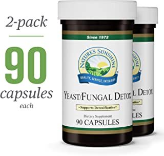 Nature's Sunshine Yeast/Fungal Detox, 90 Capsules, 2 Pack | Yeast Detox Supplement Provides Candida Cleanse and Promotes Healthy Balance of Microflora