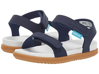 Native Kids Shoes Charley (Toddler/Little Kid) (Regatta Blue/Shell White/Toffee Brown) Kids Shoes