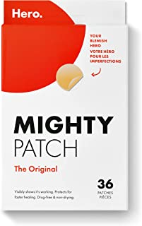 Mighty Patch Original from Hero Cosmetics - Hydrocolloid Acne Pimple Patch for Zits and Blemishes, Spot Treatment Stickers...