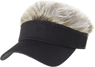 Flair Hair Sun Visor Cap with Fake Hair Wig Novelty KR1588