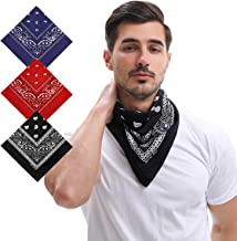 3pcs Handmade Soft Bandanas, Colorfast 100% Cotton Headband, Wrap, Handkerchiefs, Scarf, Wristband, Protective Coverage