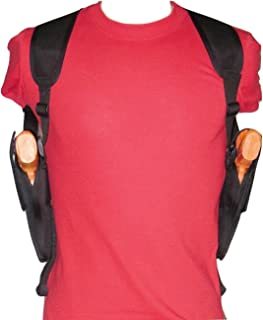 Vertical Two Gun Shoulder Holster for 1911 Frame Pistols Colt, Kimber, Springfield, S&W, Rock Island, Sig Sauer