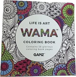 GANZ WAMA Life is Art Adult Coloring Book