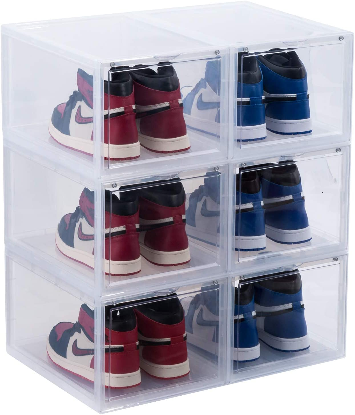 Mokrol Sneaker Shoe Sale price shopping Storage Box Drop DIY Front Foldabl Organizer