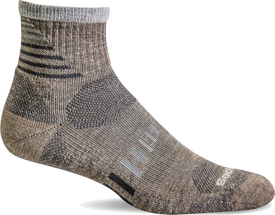 Sockwell Men's Ascend II Quarter Moderate Compression Construction Socks