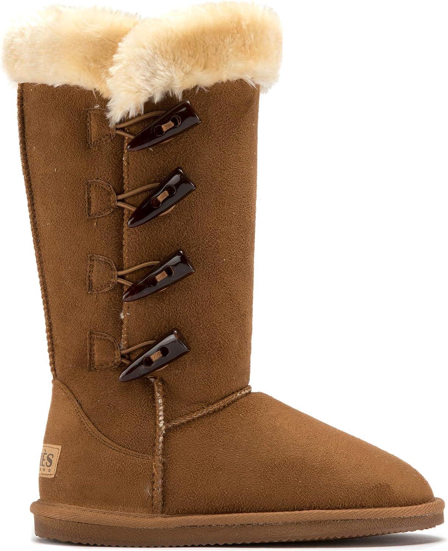 Lamo - Chestnut 4  Toggle 12  Boots