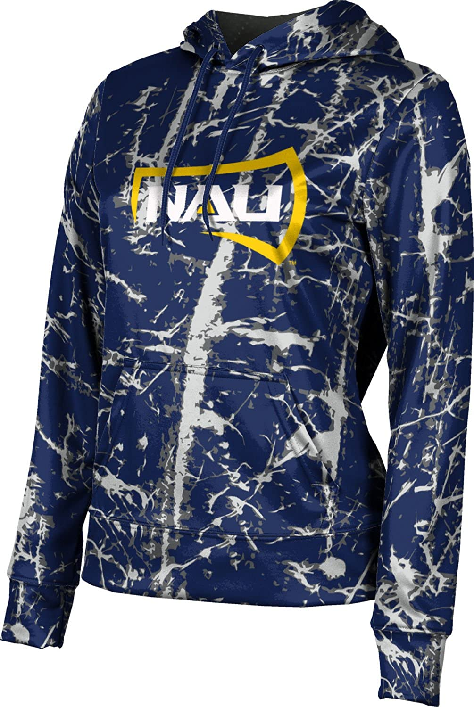 Northern Arizona University Girls' Pullover Hoodie, School Spirit Sweatshirt (Distressed)
