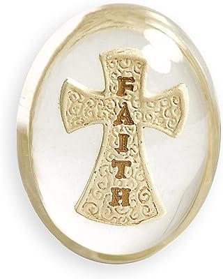 AngelStar 8748 Faith Cross Worry Stone, 1-1/2-Inch