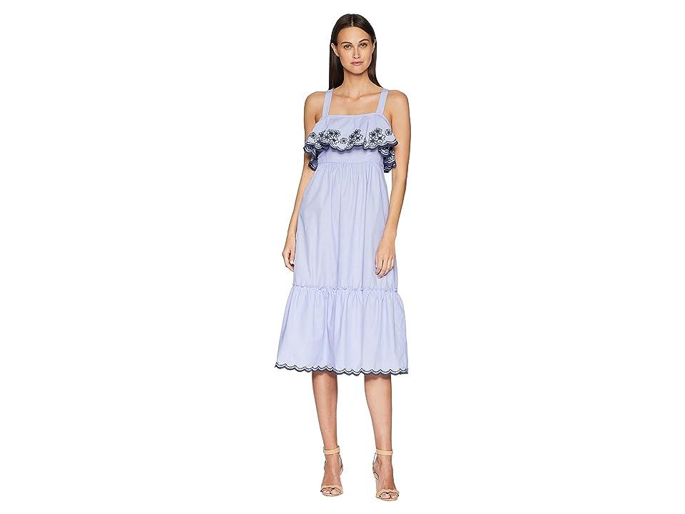 Kate Spade New York Daisy Embroidered Patio Dress (Ensemble Blue) Women