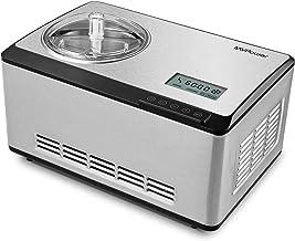MVPower Sorbetière Électrique 2L avec 180W Compresseur de Refroidissement,Machine à Glace en Acier Inoxydable,Sorbetière T...
