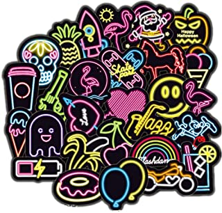 DOFE 100PCS Neon Stickers,Laptop Stickers,Motorcycle Bicycle Luggage Decal Graffiti Patches for Teens. (100PCS Neon Stickers)