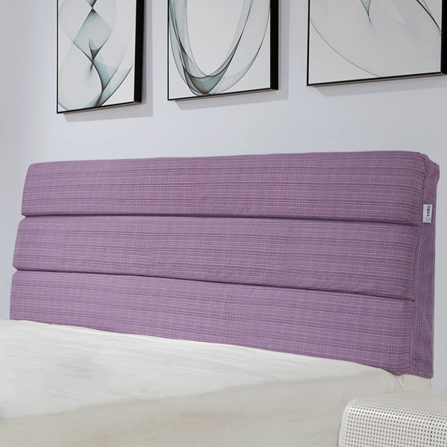 WENZHE Upholstered Fabric Headboard Bedside Cushion Pads Cover Bed Wedges Backrest Waist Pad Checker Cloth Art Soft Case Home Bedroom Large Back Sofa Pillow Washable Multifunction Do Not Collapse Breathable There Are Headboards, 4 colors, 9 Sizes Optional
